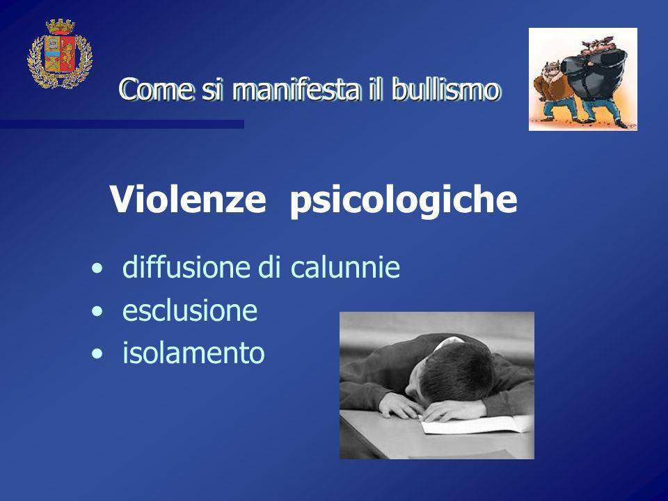 Violenze psicologiche