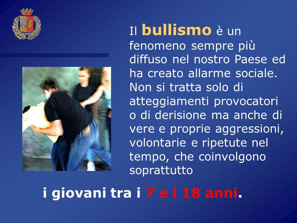 Il bullismo è un fenomeno sempre più diffuso nel nostro Paese ed ha creato allarme sociale.