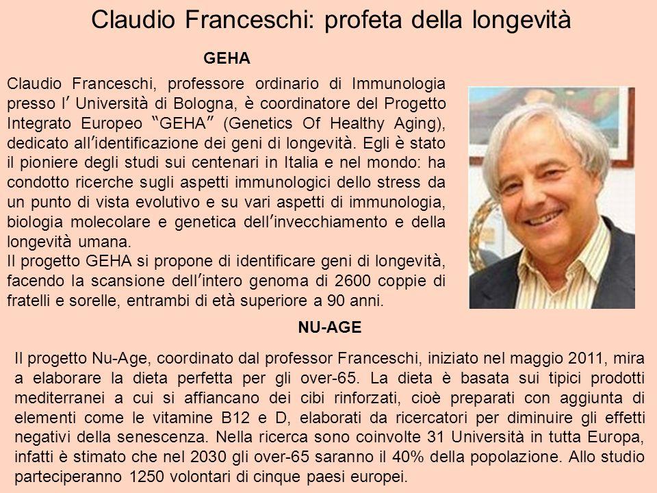 Claudio Franceschi: profeta della longevità