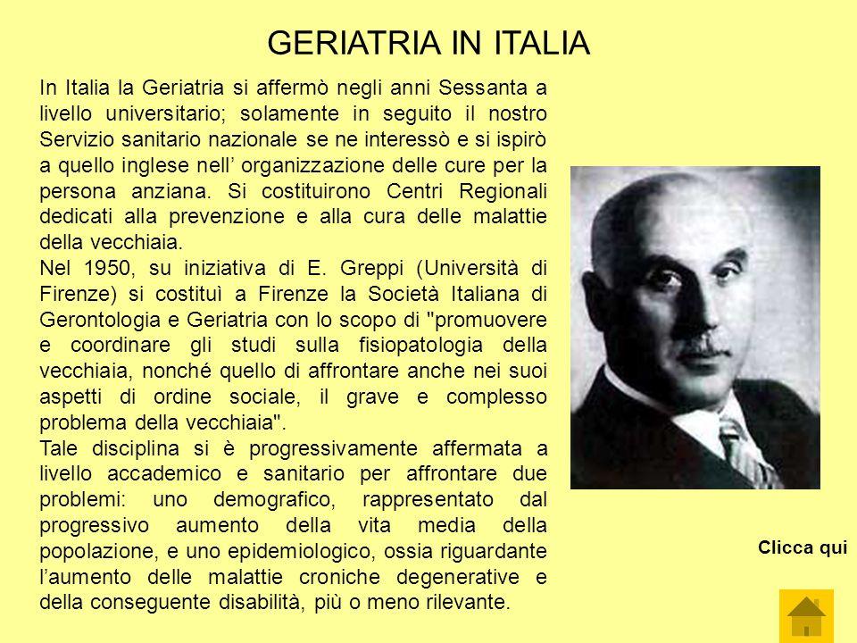 GERIATRIA IN ITALIA