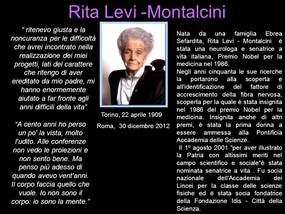 Rita Levi -Montalcini