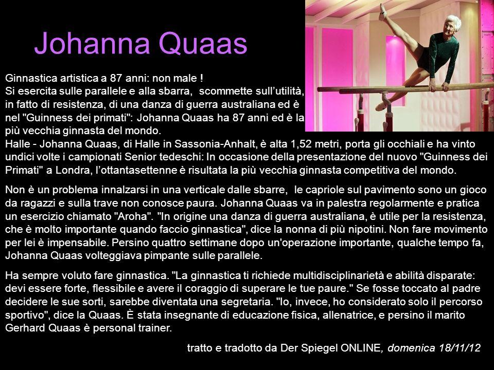 Johanna Quaas Ginnastica artistica a 87 anni: non male !