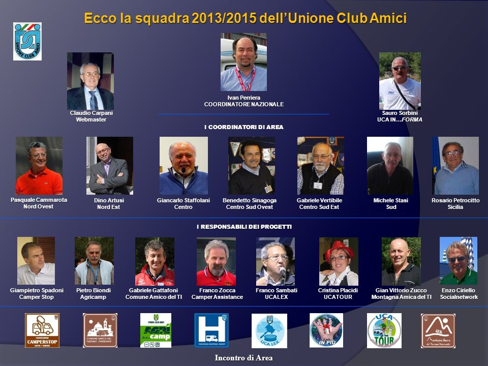 Ecco la squadra 2013/2015 dell'Unione Club Amici