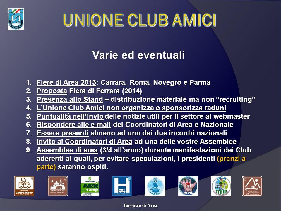 UNIONE CLUB AMICI Varie ed eventuali