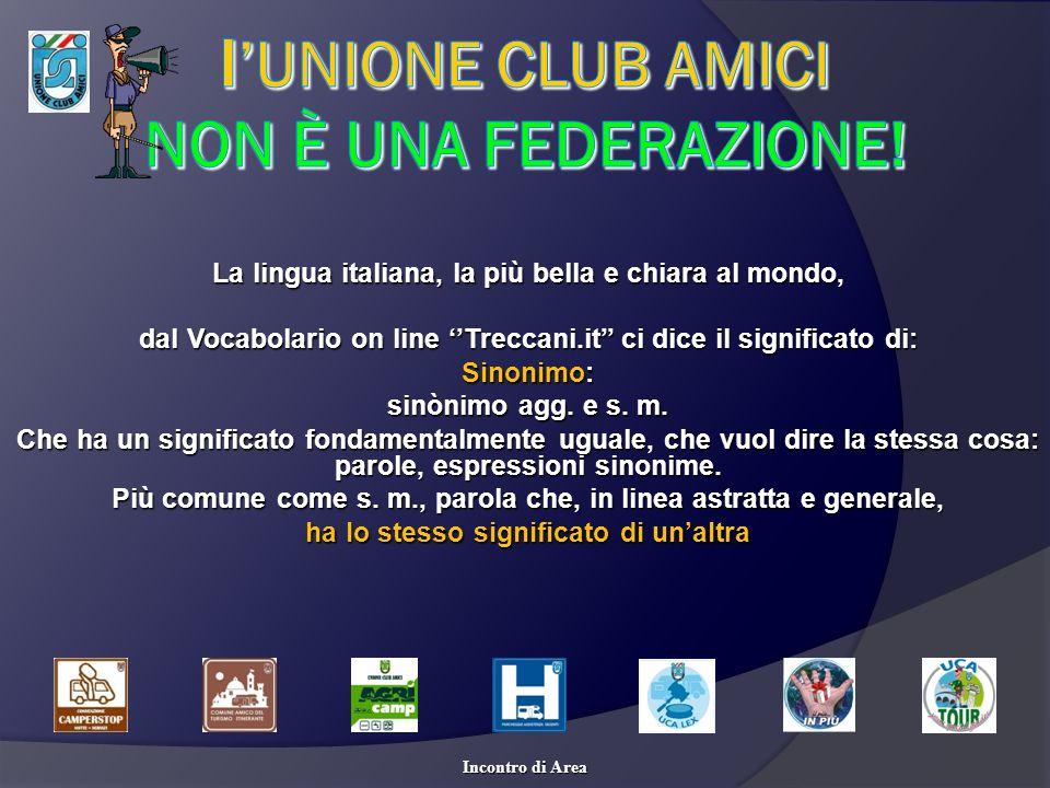 l'UNIONE CLUB AMICI non è una federazione!