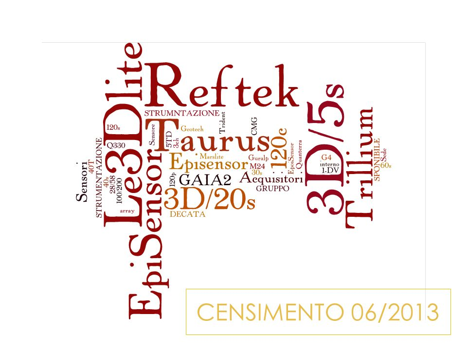 CENSIMENTO 06/2013