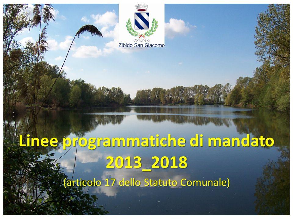 Linee programmatiche di mandato 2013_2018