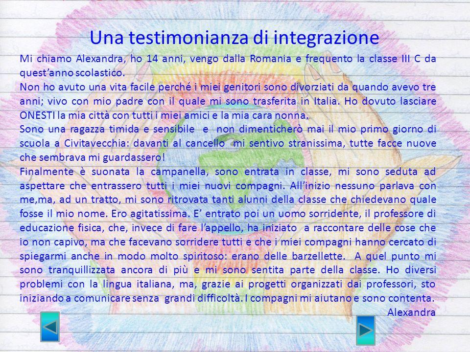 Una testimonianza di integrazione