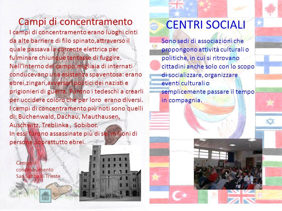 CENTRI SOCIALI Campi di concentramento