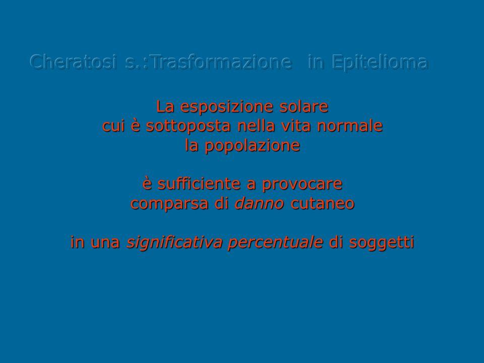 Cheratosi s.:Trasformazione in Epitelioma