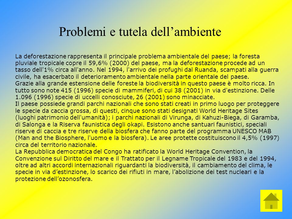 Problemi e tutela dell'ambiente