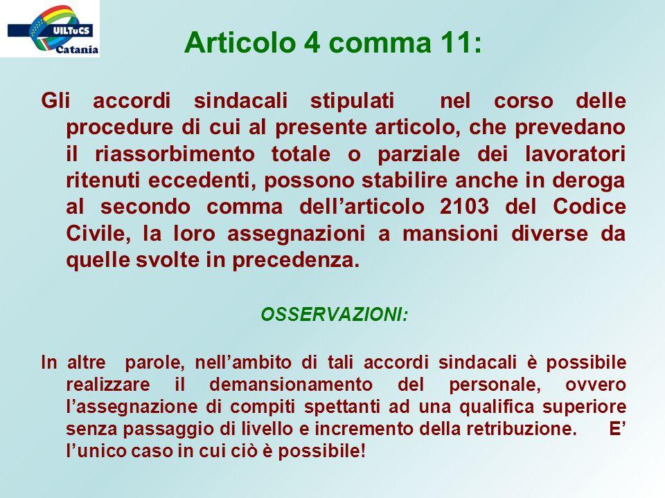 Articolo 4 comma 11:
