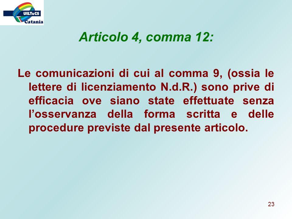 Articolo 4, comma 12: