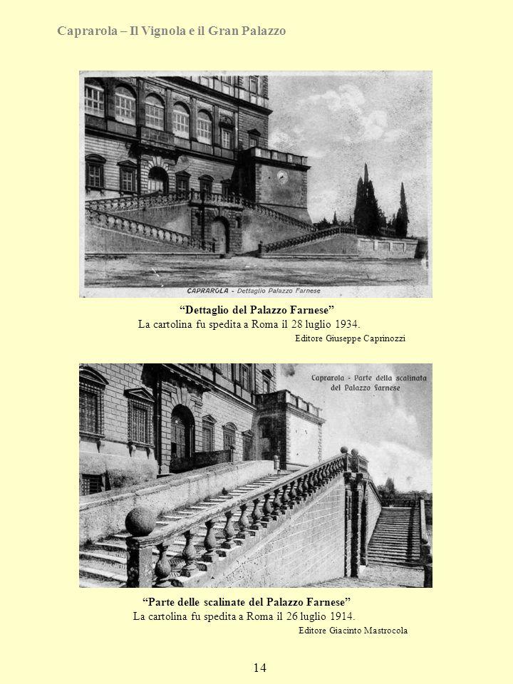 Caprarola – Il Vignola e il Gran Palazzo