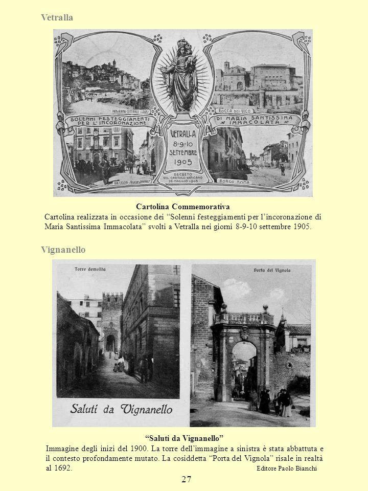 Vetralla Vignanello 27 Cartolina Commemorativa