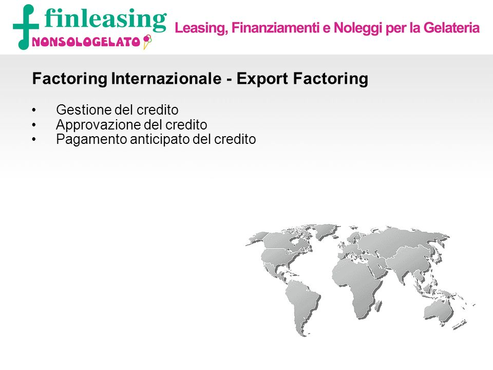 Factoring Internazionale - Export Factoring