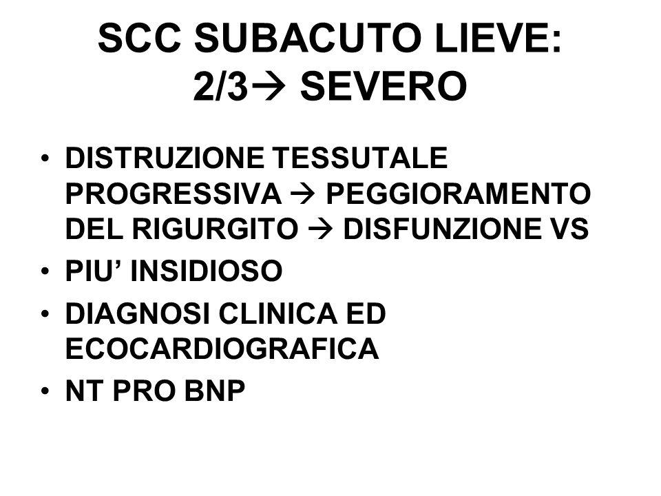 SCC SUBACUTO LIEVE: 2/3 SEVERO