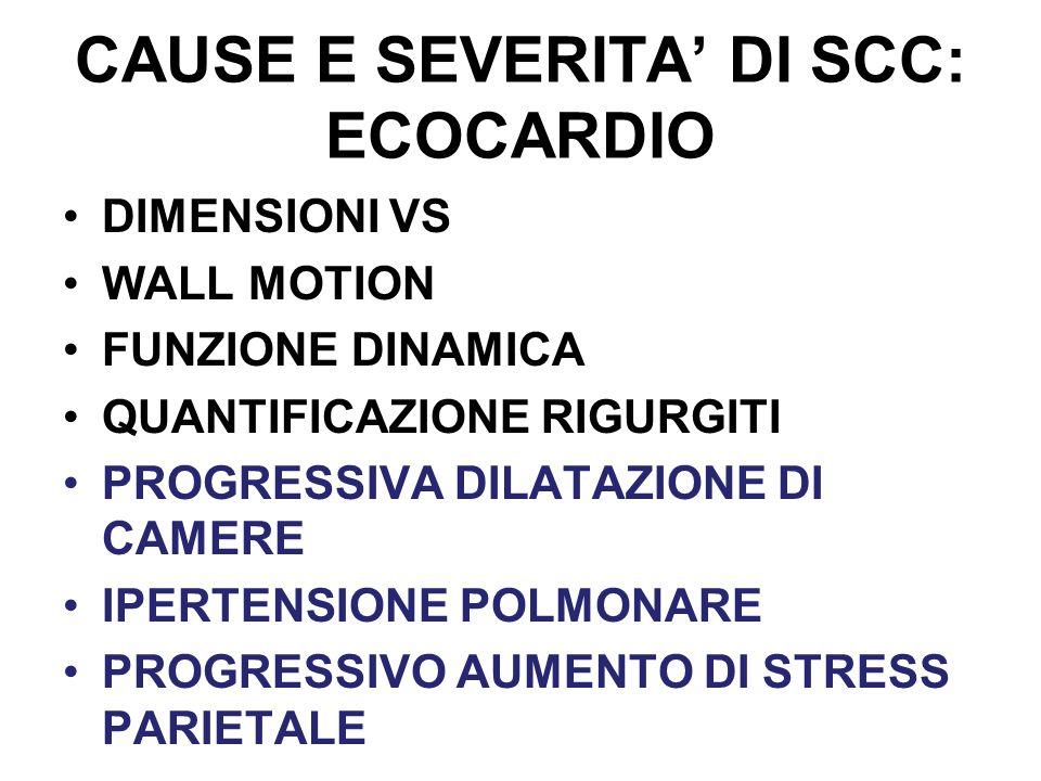 CAUSE E SEVERITA' DI SCC: ECOCARDIO