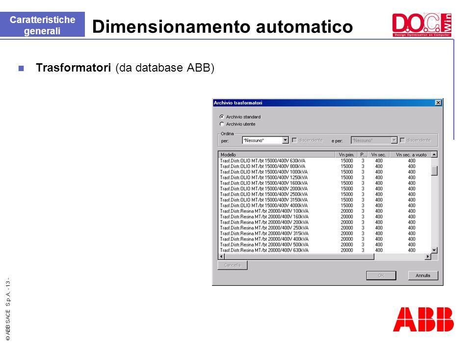 Dimensionamento automatico