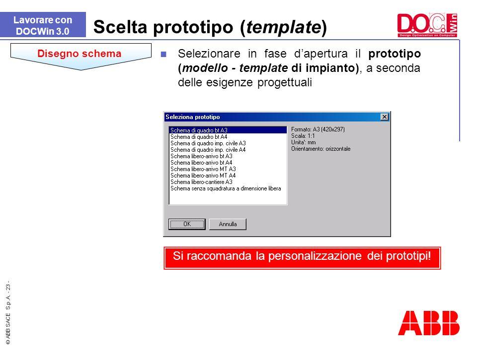 Scelta prototipo (template)
