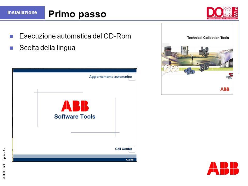 Primo passo Esecuzione automatica del CD-Rom Scelta della lingua