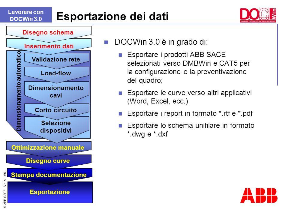 Esportazione dei dati DOCWin 3.0 è in grado di: