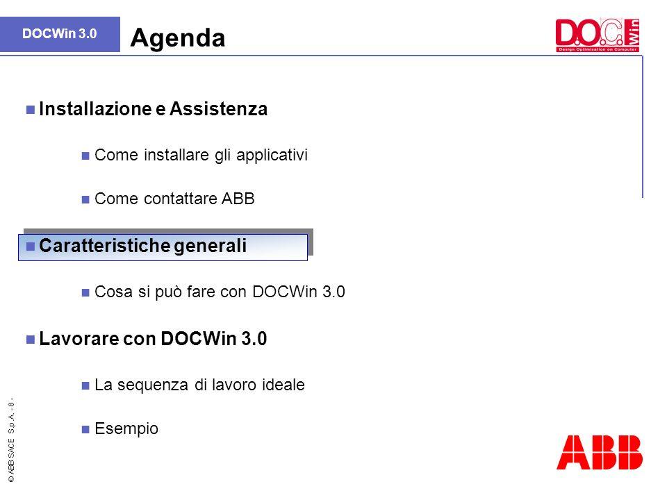 Agenda Installazione e Assistenza Caratteristiche generali