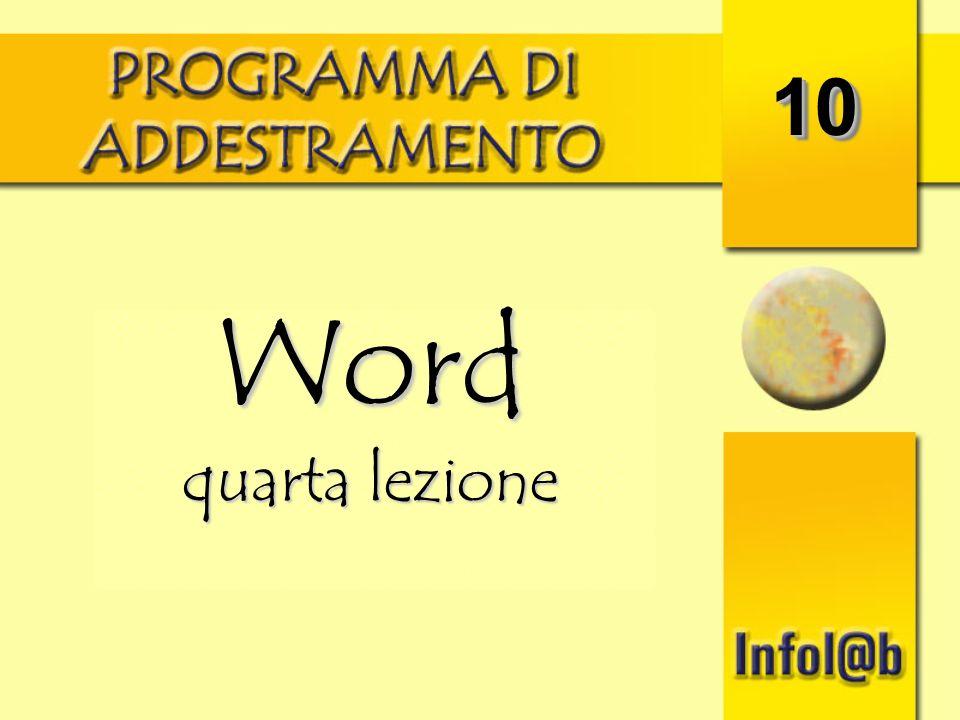 10 Word quarta lezione