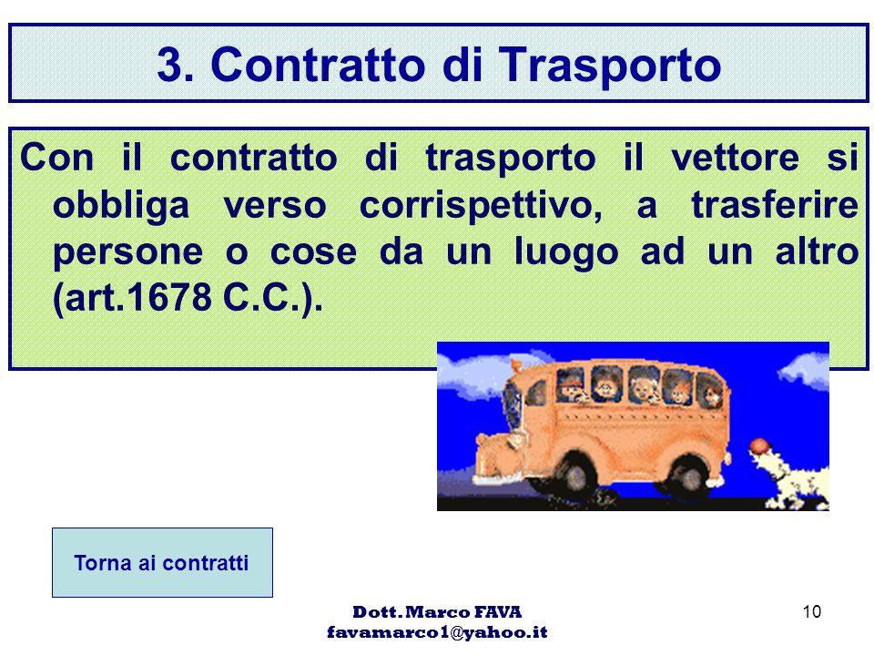 3. Contratto di Trasporto