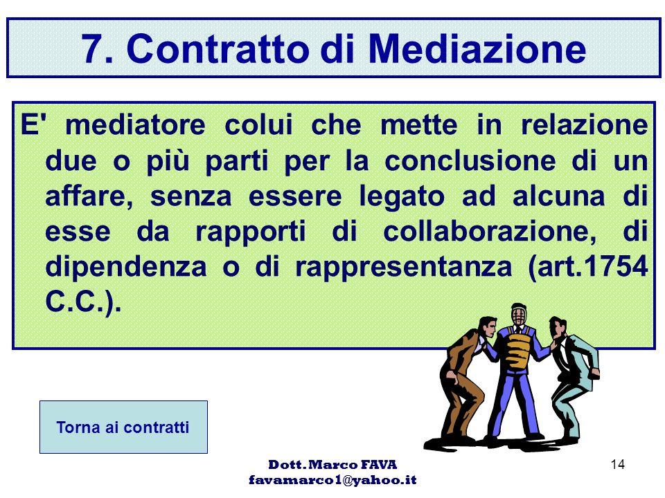 7. Contratto di Mediazione