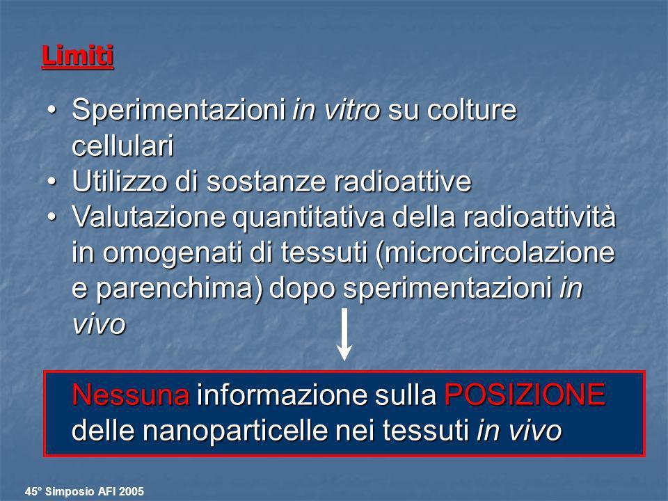 Sperimentazioni in vitro su colture cellulari