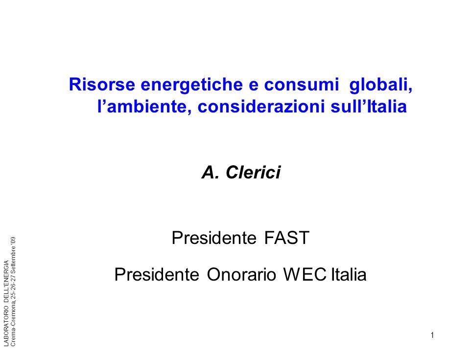Presidente Onorario WEC Italia