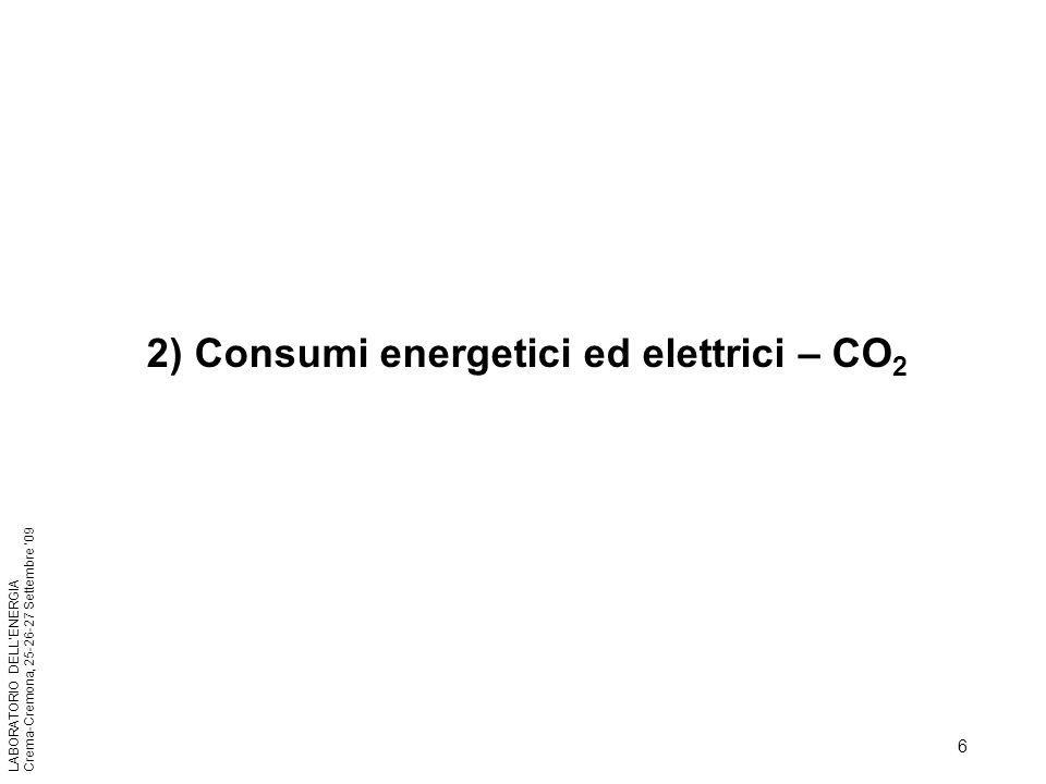 2) Consumi energetici ed elettrici – CO2