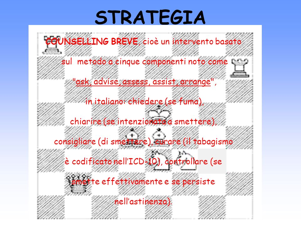 STRATEGIA COUNSELLING BREVE, cioè un intervento basato