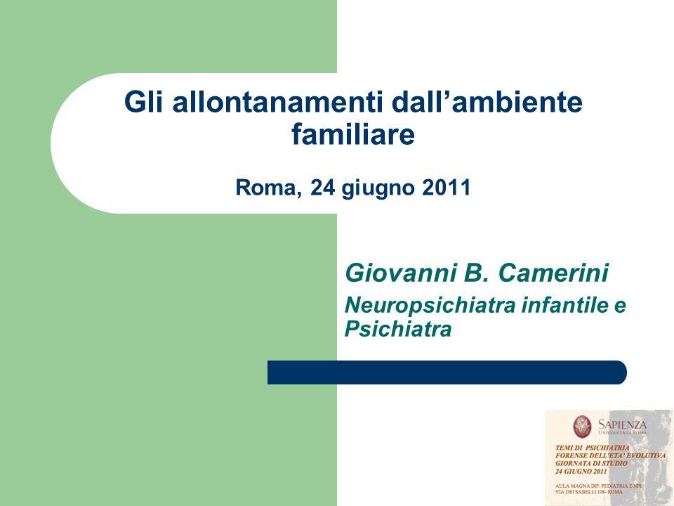Gli allontanamenti dall'ambiente familiare Roma, 24 giugno 2011