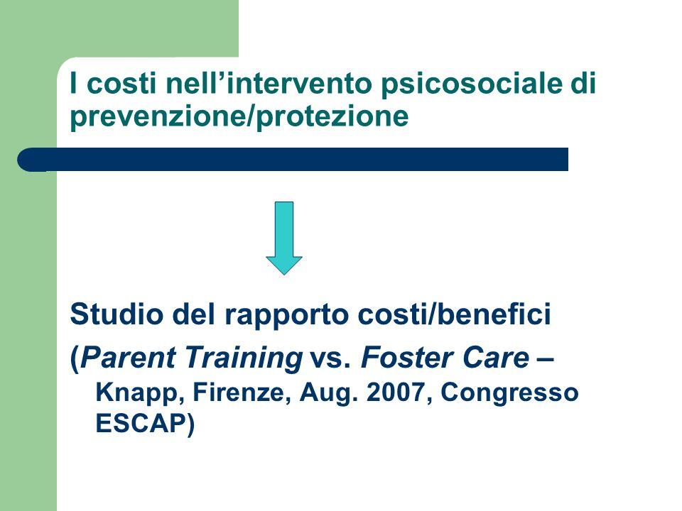 I costi nell'intervento psicosociale di prevenzione/protezione