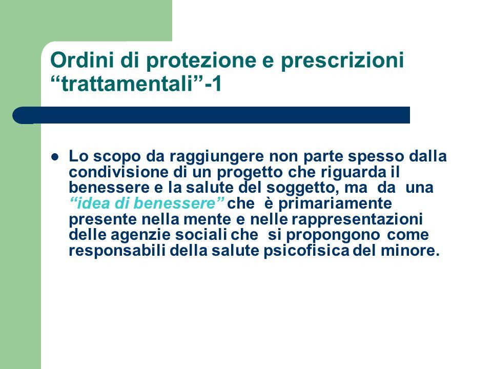 Ordini di protezione e prescrizioni trattamentali -1