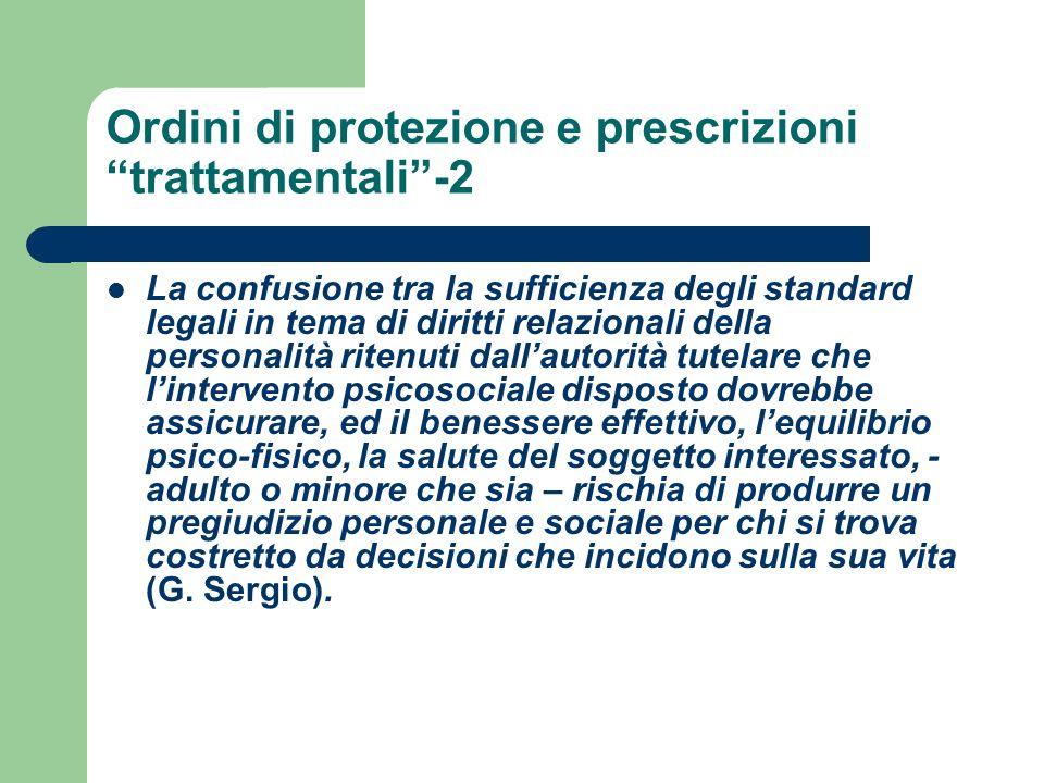 Ordini di protezione e prescrizioni trattamentali -2