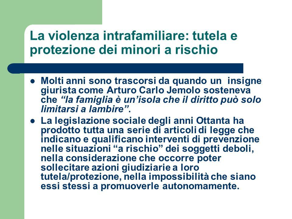 La violenza intrafamiliare: tutela e protezione dei minori a rischio