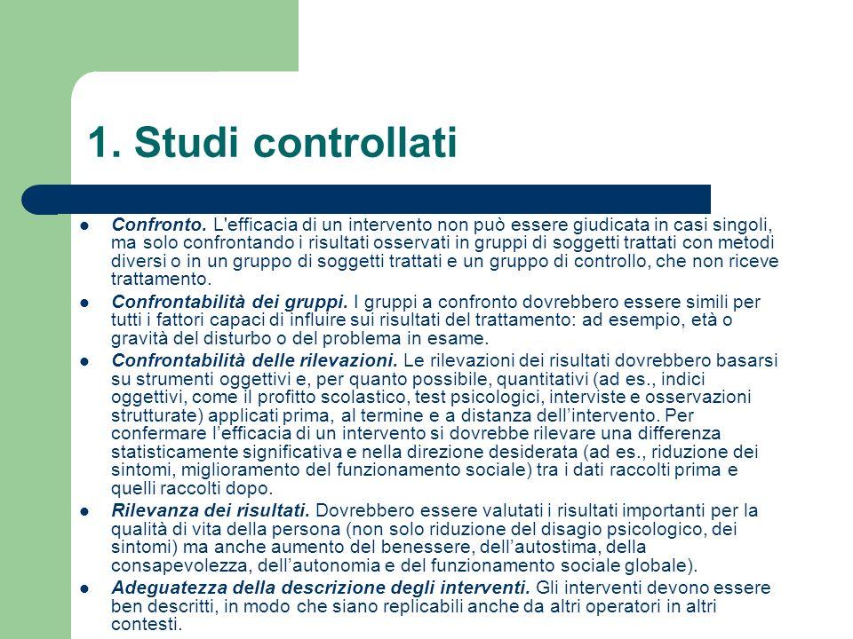 1. Studi controllati