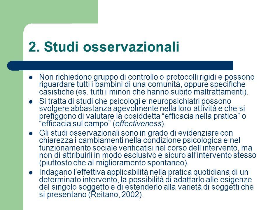 2. Studi osservazionali