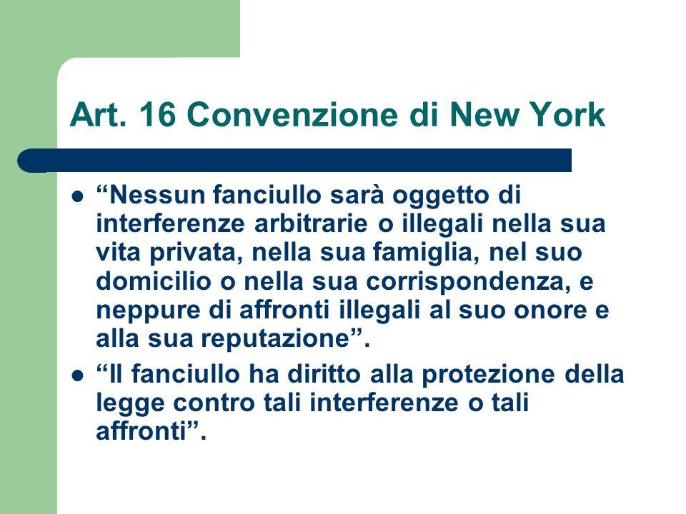 Art. 16 Convenzione di New York