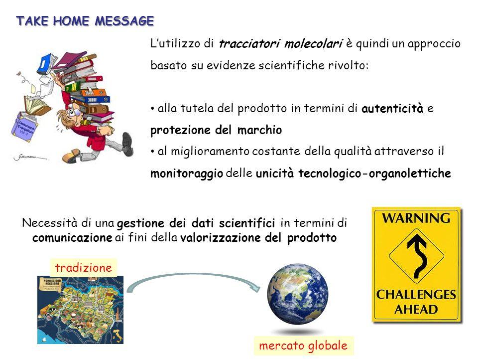 TAKE HOME MESSAGE L'utilizzo di tracciatori molecolari è quindi un approccio basato su evidenze scientifiche rivolto: