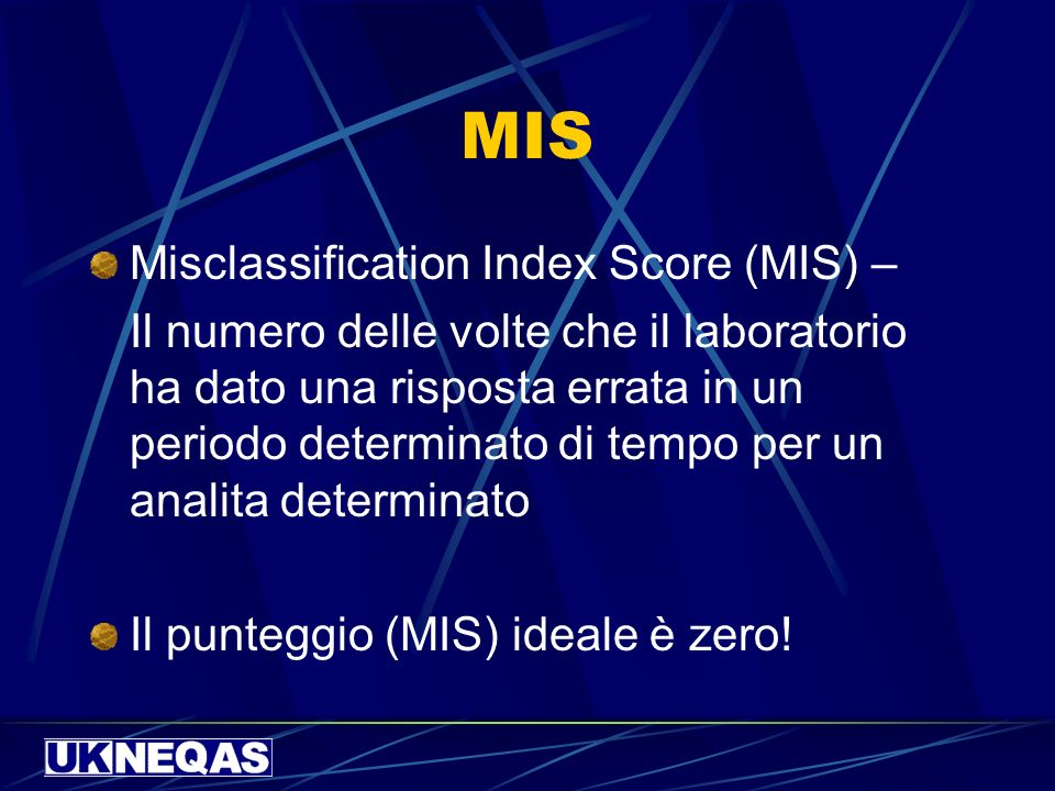 MIS Misclassification Index Score (MIS) –