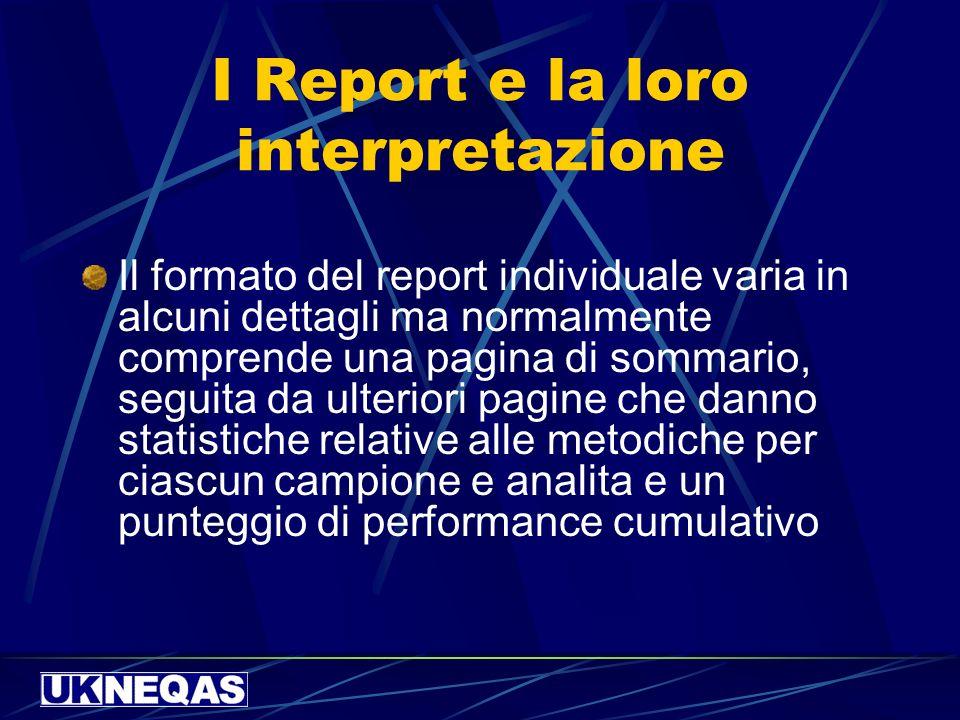 I Report e la loro interpretazione