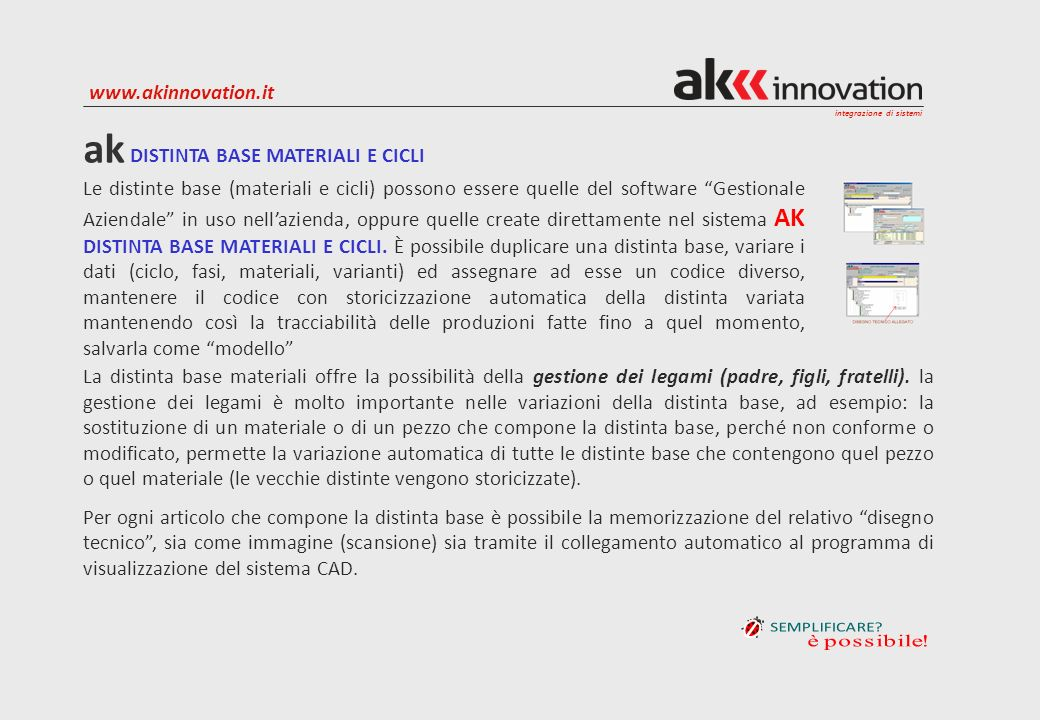 ak DISTINTA BASE MATERIALI E CICLI