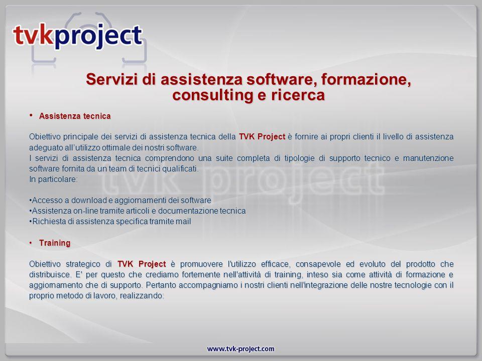 Servizi di assistenza software, formazione, consulting e ricerca