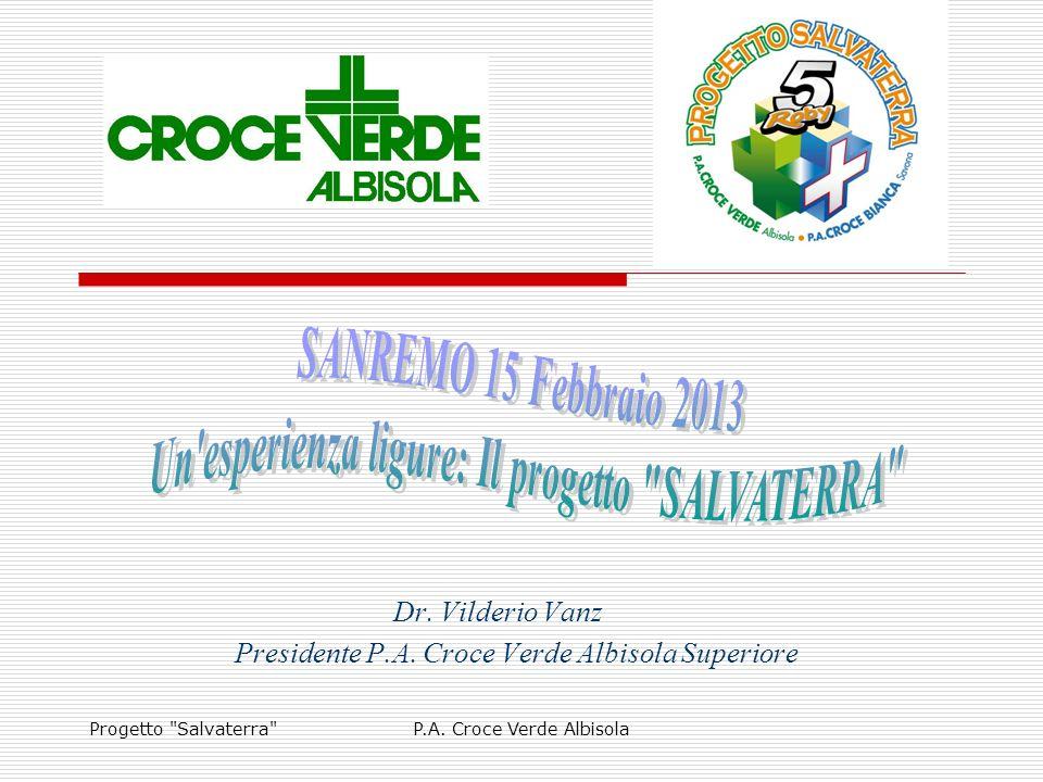 Dr. Vilderio Vanz Presidente P.A. Croce Verde Albisola Superiore