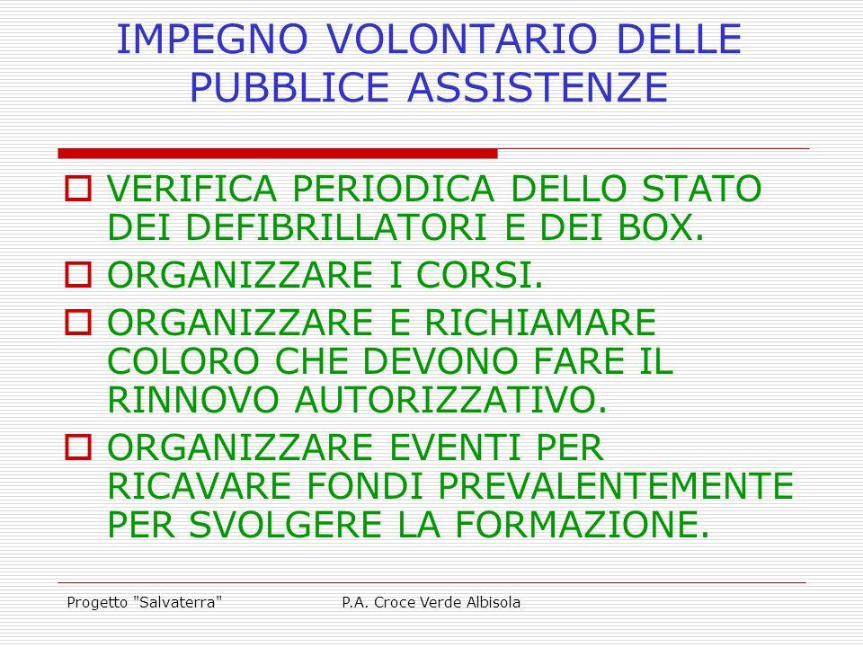 IMPEGNO VOLONTARIO DELLE PUBBLICE ASSISTENZE