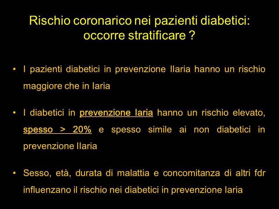 Rischio coronarico nei pazienti diabetici: occorre stratificare